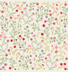 floral seamless pattern flower background spring vector image