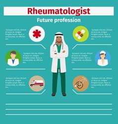 future profession rheumatologist infographic vector image