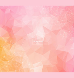 geometric dark pink polygonal background molecule vector image