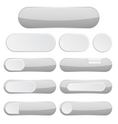 gray interface buttons web icons vector image