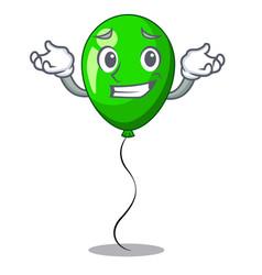 Grinning green baloon on left corner mascot vector