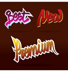 hand lettering labels vector image