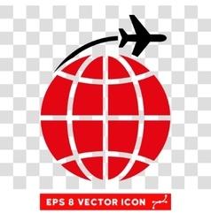 International Flight Eps Icon vector image