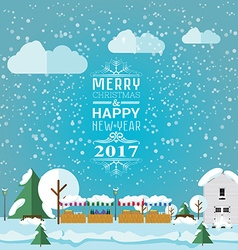 Invitation card Merry Christmas and happy new year vector