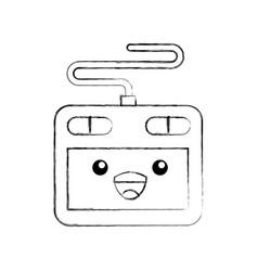 Kawaii designer tablet digital cartoon vector
