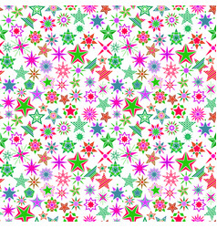 Kids colorful cartoon stars pattern vector