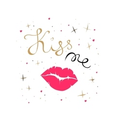 Kiss me card vector