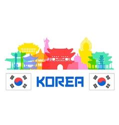 Korea Traval vector