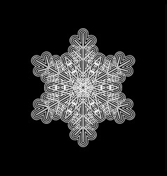 Lace snowflake isolated vector