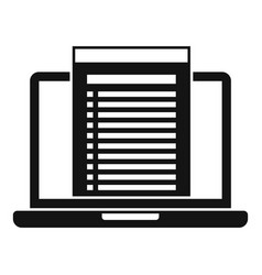 Laptop audit icon simple style vector