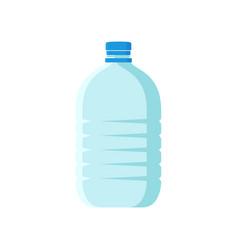 Large plastic bottle with blue lid empty vector
