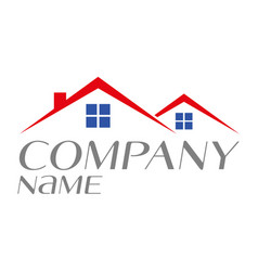 logo house for sale rental or home ownership vector image