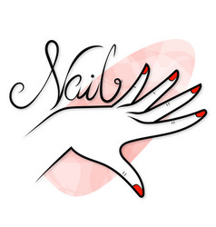 Manicure care hand and nails vector