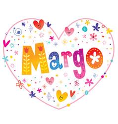 Margo feminine given name vector
