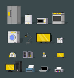 modern wireless devices collection vector image