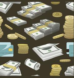 Money set pattern vector