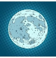 Moon satellite planet vector