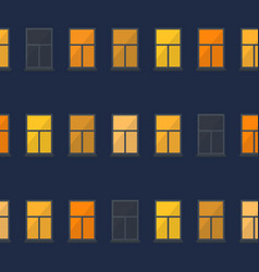 night window simple seamless pattern vector image