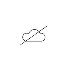 no cloud icon vector image