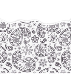 Paisley pattern with torn paper vector