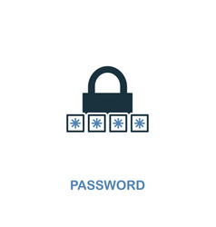 password icon in two colors premium design from vector image