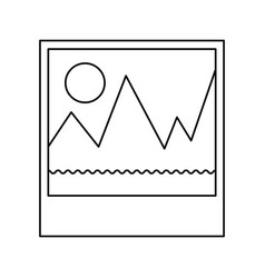 picture icon in monochrome silhouette vector image