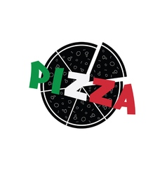 Pizza color vector