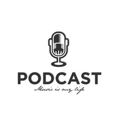 podcast logo design inspiration vector image