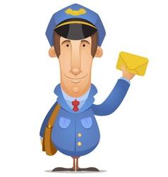 postal worker vector image