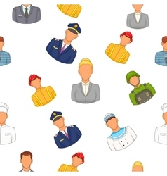 Profession pattern cartoon style vector image