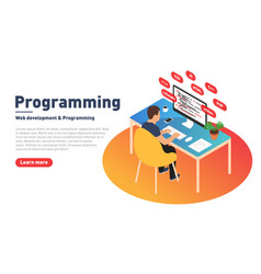 Programming and web development concept vector