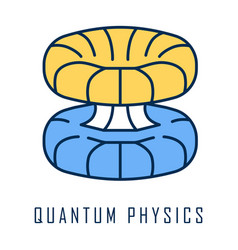 Quantum physics color icon nuclear energy vector
