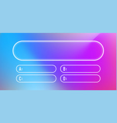 Question and answers neon style template vector