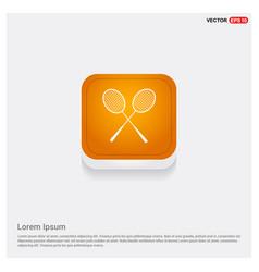 racket shuttlecock icon vector image