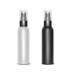 realistic detailed 3d blank spray bottles set vector image
