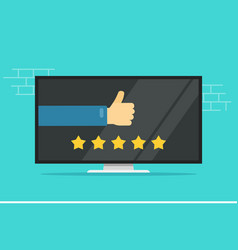 Reviews rating or testimonials feedback online on vector