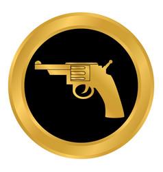 Revolver button on white vector