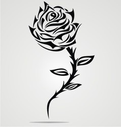 Rose Flower Tattoo Design vector image