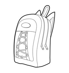 school backpack icon outline vector image