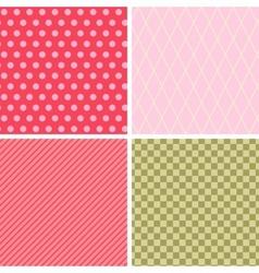 Seamless abstract retro pattern set 4 geometric vector