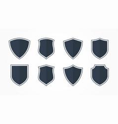 Set shield icons security logos vector