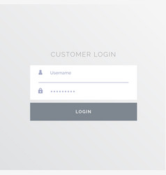 simple white login form template design vector image