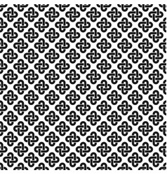 Solomon knot seamless pattern vector