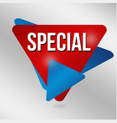 Special sign or label vector