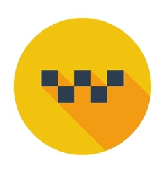 Taxi single icon vector image
