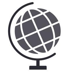 Terrestrial world globe school earth map vector
