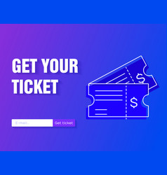 ticket icon get your ticket online vector image