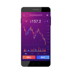 trading mobile interface vector image