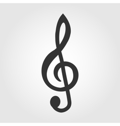 Treble clef icon flat design vector