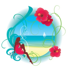 tropic beach vector image